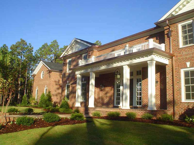 elegant home exterior with landscaping